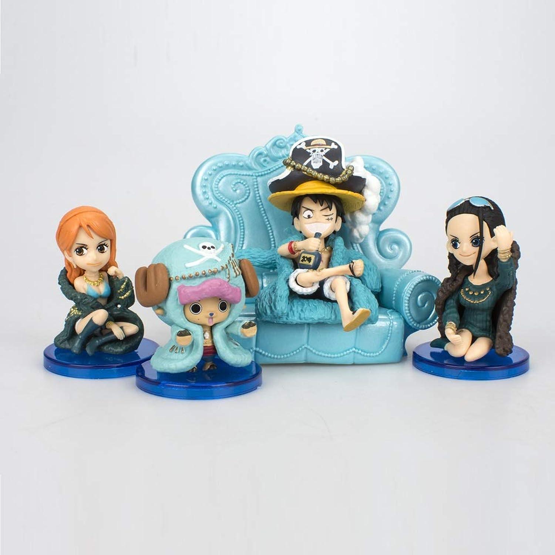 DUDDP Anime-Modelle, Ein Stück Puppe Spielzeug 20-jähriges Jubiläum blaue Sofa Straße fliegen Qiao Ba Namei Modell Dekoration Boxed Toy Car Schmuck Geschenk Sammlung Handwerk 8 cm (4 Modelle) Anime-Sp B07P6ZH1WB  Clever und praktisch