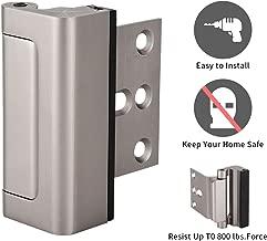 JINGYAT Door Reinforcement Lock,Easy to Install Security Door Lock for Kids,Home Child Proof Defender Door Locks Withstand 800 lbs for Inward Swinging Door