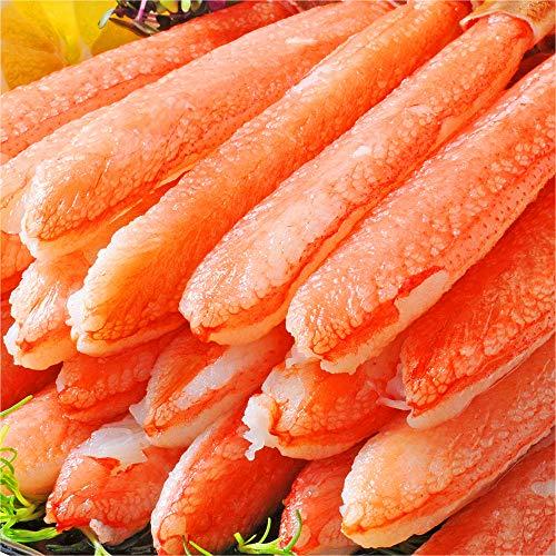 刺身用 超希少 10L~12L 特大18cm 極太 本ズワイガニポーション ずわい蟹 かにしゃぶ カニむき身 カニポーション 特大 ギフト 数量限定 (500g 6~9本)