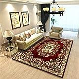 Alfombras A Medida Online rojo Decoracion Habitacion Bebe Alfombra del salón del dormitorio del hogar del sofá de la sala de estar de gama alta de lujo del cordón de la vendimia Cuadro Comedor 120X160