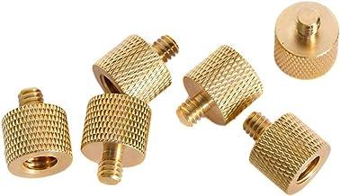 gfjfghfjfh 1 STKS Statief Draad Schroef Adapter 3/8 1/4 Vrouwelijke Mannelijke Converter Goud Kleur Messing Voor Statief Camera-accessoires