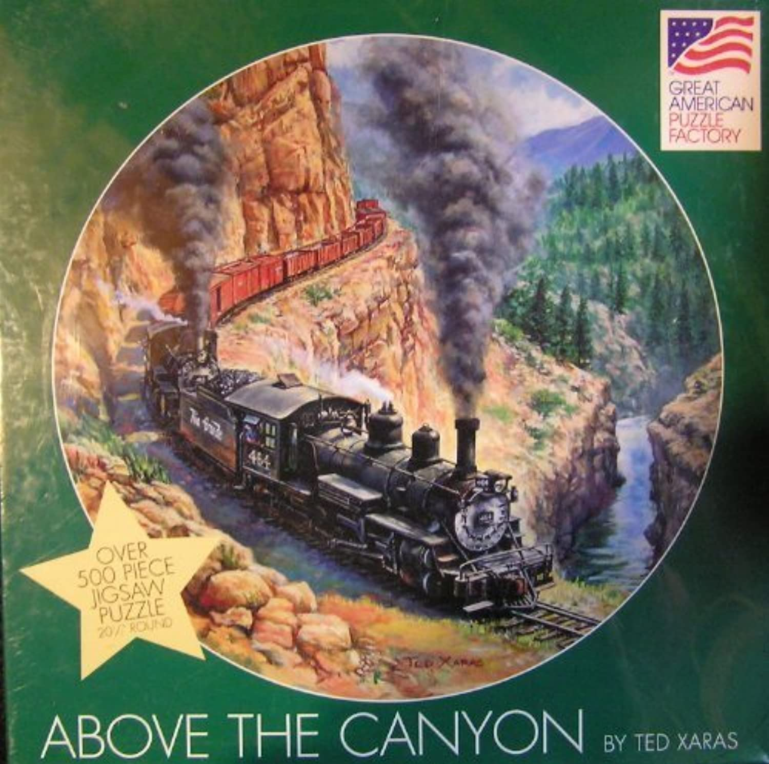 Above the Canyon By Ted Xaras 500 Piece Puzzle by Great America Puzzle Factory