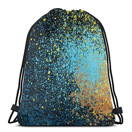 Lmtt Bolsas con cordón Mochila de pintura en aerosol Bolsas de cuerda de tracción a granel Almacenamiento deportivo Gimnasio para mujeres Mochila de picnic reutilizable para acampar como imagen