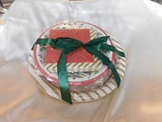 Lenox Holly Disposable Paper Plates and Napkins Gift Set ~ 56 Pieces ~ Service for 8
