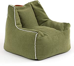 Mini Sofa Couch Padded Chair Kids Sofa Children Armchair Single Seater Childrens Boys Girls Lounger Furniture Home Indoor Bedroom Playroom Kindergarten ES0925  Color Green