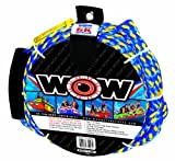 WOW World of Watersports, 11-3020, Tow Rope up to 6 Riders, 60 Feet, 6100 Pounds Break Strength, Floating Foam Buoys – Heavy Duty Rope