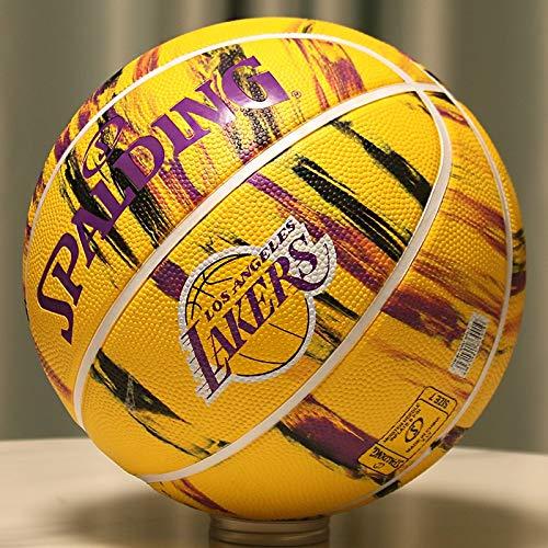 Balones de Baloncesto Baloncesto Resistente Al Desgaste Oficial para Exteriores del Equipo Lakers Spurs Warriors