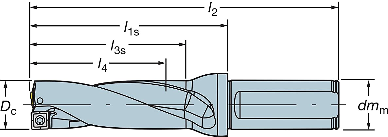 Sandvik Coromant 880-D2000L25-03 Corodrill 880 Indexable Insert Drill, 880.L-03 Tool Style Code, 0.984