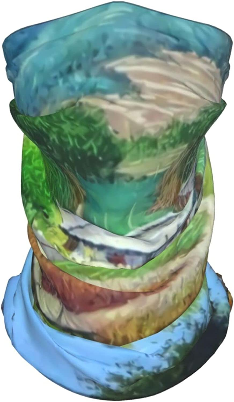Sailboat Neck Gaiter Multipurpose Headwear Ice Silk Mask Scarf Summer Cool Breathable Outdoor Sport 4 Pcs