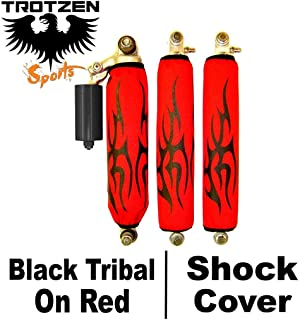 Trotzen Sports Shock Cover Compatible With Yamaha raptor 50 80 Black Tribal Red Shock Cover #pht11960 TTS3970