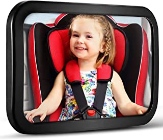 Baby Car Mirror, DARVIQS Car Seat Mirror, Safely Monitor Infant Child in Rear Facing Car Seat, Wide View Shatterproof Adju...