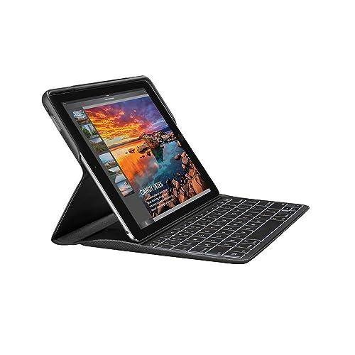 """Logitech Create - Funda con teclado inalámbrico retroiluminado y tecnología Smart Connector (compatible con iPad Pro de 9.7"""", primera generación, teclado francés AZERTY), color negro"""