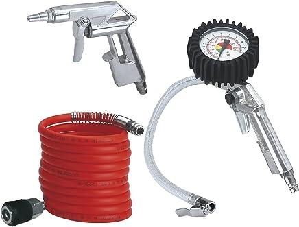 Einhell 812607 Set de 3 Accesorios para compresor, Negro, Metálico, Rojo