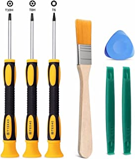 Jahyshow T8 T6 T10 Screwdriver Set for Xbox One Xbox 360 Controller and PS3 PS4, Safe Prying Tool and Cleaning Brush