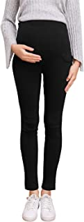 Pregnant Women Work Pants Stretchy Maternity Skinny Ankle...