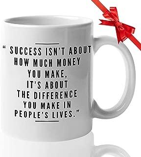 Inspirational Quote Coffee Mug - The First Lady Women Democrats Men Best Friend Colleague Coworker Birthday Christmas Valentine Appreciation Birthday
