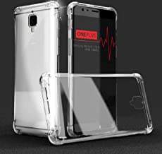 Dashmesh Shopping® Anti-Shock Flexible Protective Shockproof Hybrid Protection Back Cover with Bumper Corners for Oneplus 3 & Oneplus 3T (Transparent)