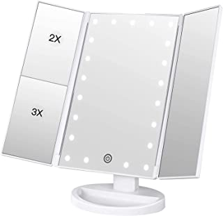 BESTOPE Makeup Mirror 1x/2x/3x Magnification Vanity Mirror