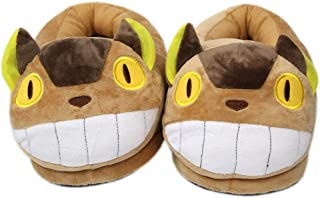 EASTVAPS Chaussures Chaussons en Peluche Chat Bus Hayao Miyazaki Anime Coton Chaussures