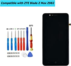 Upplus Screen Replacement LCD Compatible with ZTE Blade Z Max Z982/ZMax Pro 2 LCD Touch Screen Display Frame with Tools (Black)