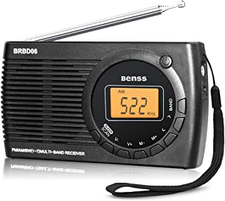 Radio Portatil Pequeña Digital Radio de Bolsillo FM Am SW DSP Transistor Bateria Radio con Altavoz de Sonido Reloj Despert...