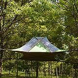 F&zbhzy Zelt Ausgesetztes Baumzelt Ultraleichtes hängendes Baumhaus Campinghängematte Wasserdichtes 4-Jahreszeiten-Zelt zum Wandern im Rucksack, Viereck grün