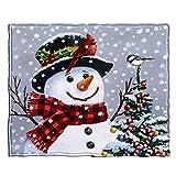 Dawhud Direct Snowman Super Soft Plush Fleece Throw Blanket