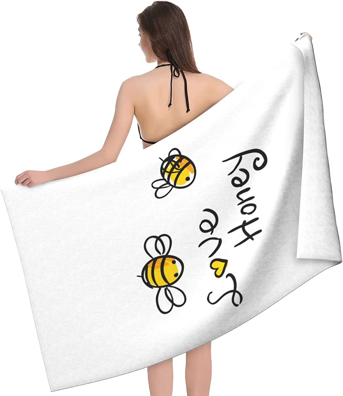 Microfiber Beach Same day shipping Towe Bee Love Honey Printed Ranking TOP5 Bath and Soft Towel