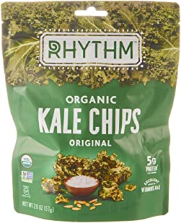 Rhythm Superfoods Organic Kale Chips, Original, 2 oz, Packaging May Vary