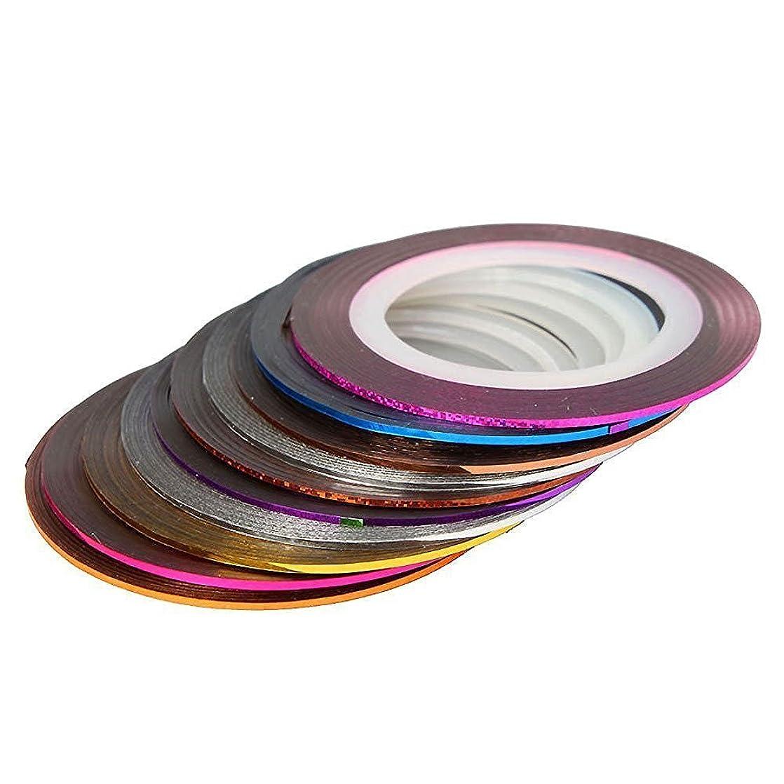 暴露するミリメーター指標Vi.yo ラインテープ ネイルデザインテープ ネイルアート用 DIYネイルチップ用 自己粘着性 30色 カラーネイルアートセット