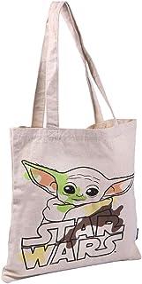 Cerdá Damen Bolso de Algodón Orgánico Licencia Oficial Tasche aus Bio-Baumwolle Baby Yoda-Offizielles Lizenzprodukt Star W...