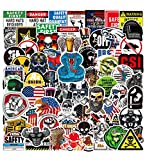 Hard Hat Stickers 100Pcs, Funny Sticker for Tool Box Thermos Hard Hats Construction Helmet, Waterproof Vinyl Decal Stickers Pack for Adults, Mechanics, Electricians, Union, Oilfield, Military, Welders