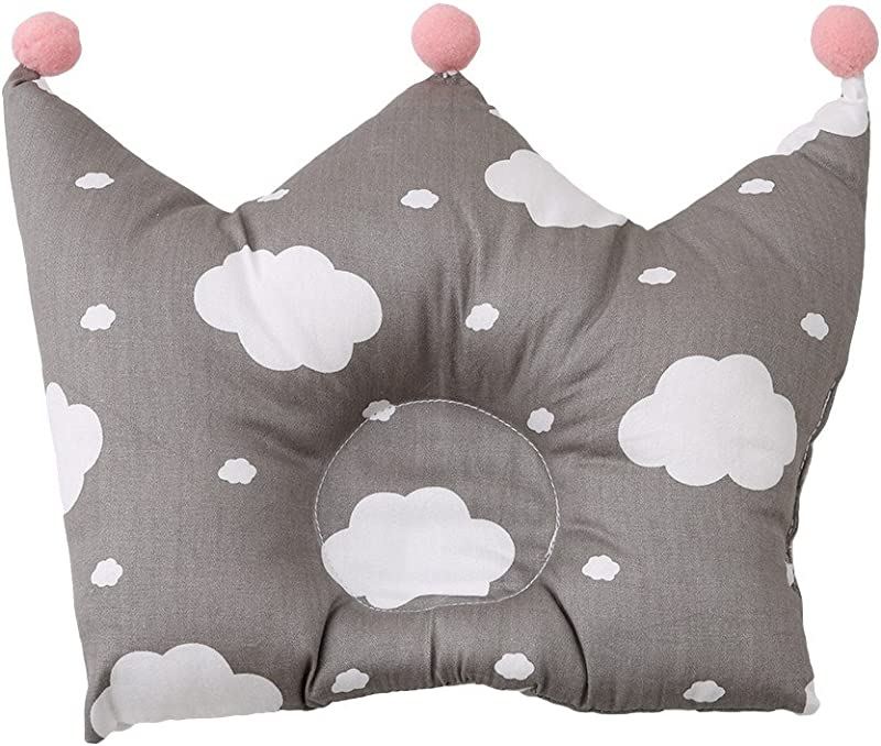 Iumer Cotton Baby Protective Pillow Newborn Baby Pillow In Crown Shap White Cloud Greece