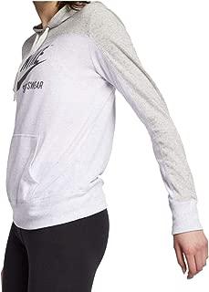 Womens Gym Vintage Pull Over Graphix Hoodie Grey Heather/Birch Heather/Dark Grey AV8298-050 Size X-Small
