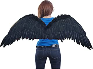 (TM Large Feather Halloween Costume Angel Wings 2 Colors Black or White
