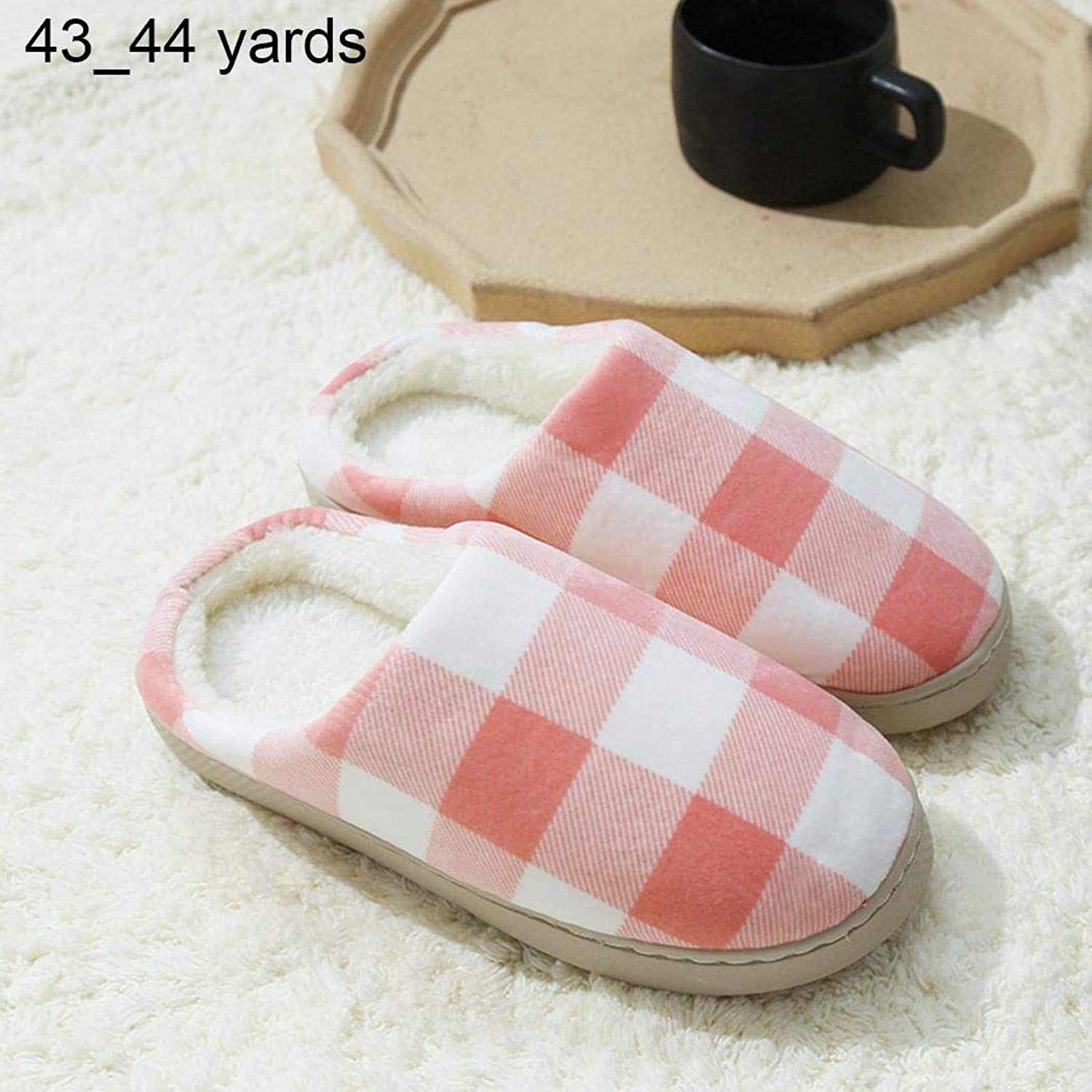 Idomeo Unisex Plaid Pattern Comfortable Warm Slippers Winter shoes Slippers