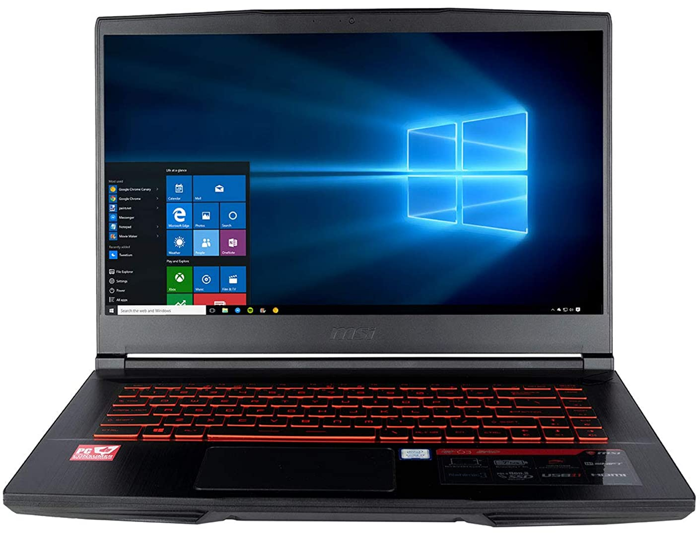 CUK MSI GF63 8RC Thin & Light Gaming Laptop (Intel i7-8750H, 32GB RAM, 512GB NVMe SSD + 1TB HDD, NVIDIA GeForce GTX 1050 4GB, 15.6
