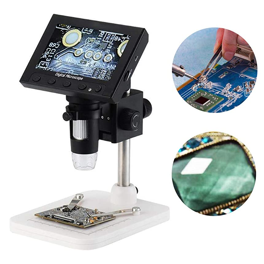 ハウジング半円文デジタル電子顕微鏡、1000X 4.3