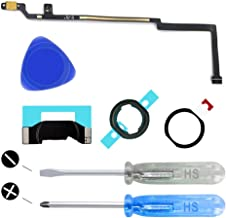 MMOBIEL Home Button Compatible with iPad 5 9.7 inch (Black) incl. Flex Cable Connector incl. 2 x Screwdrivers