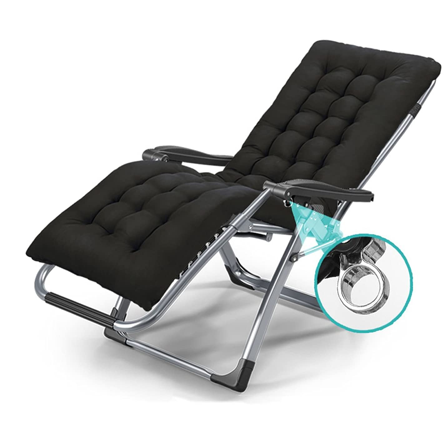 YAXIAO-Folding chair Folding Lounge Chair Personal Camping Bed Lounge Chair Maternity Chair Home Siesta Bed Folding Chair Office Angle Adjustable Garden Balcony Camping Chair (Color : A)