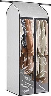 Univivi Large Garment Bag Organizer 60 inch Dust-Proof Hanging Wardrobe Garment Storage Bag with Large Clear Window Jumbo ...