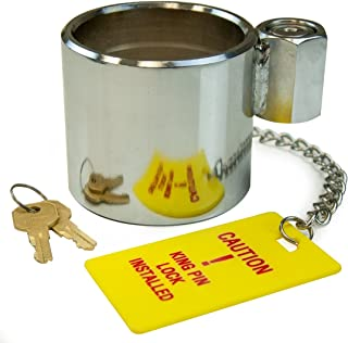VULCAN Heavy Duty Chromed Steel King Pin Trailer Hitch Lock - Stops Unauthorized Trailer Movement by Preventing The King Pin from Mating with A 5th Wheel - Works with RVs and Class 8 Trailers