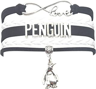 Penguin Bracelet Jewelry Leather Infinity Love Penguin Gifts Penguin Jewelry Bracelet Gifts for Women, Girls, Men, Boys Most Popular Penguin Themed Gifts