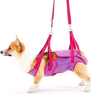 With(ウィズ) 歩行補助ハーネス LaLaWalk 中型犬・コーギー用 パープル×ピンク CMサイズ