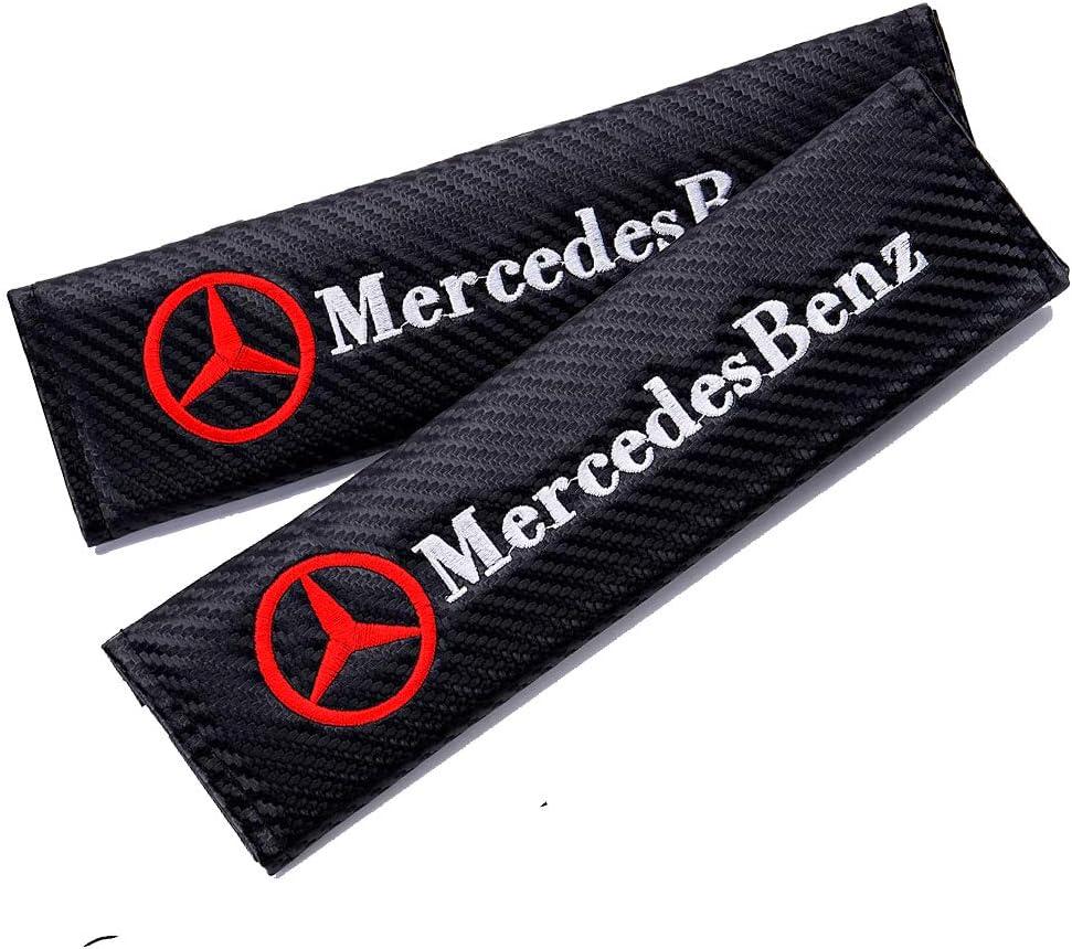 for GMC Nonbrand 2Pcs Car Carbon Fiber Seat Belt Cover Pads for GMC,Black Shoulder Seatbelt Pads Cover Logo Embroidery Safety Belt Strap Shoulder Pad