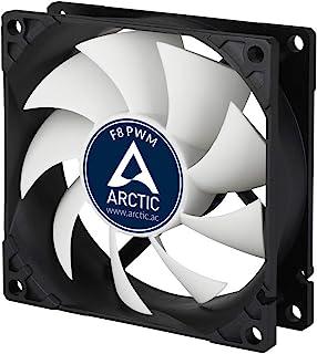 ARCTIC F8 PWM – 80 mm Ventilador de Caja para CPU con PWM Sharing Technology, Motor Muy Silencioso, Computadora, 300-2000 RPM – Gris/Blanco