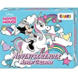 CRAZE Adventskalender MINNIE MOUSE Haarschmuck Kinderschmuck tolle Überraschungen Weihnachtskalender Mini Maus für Kinder 24669