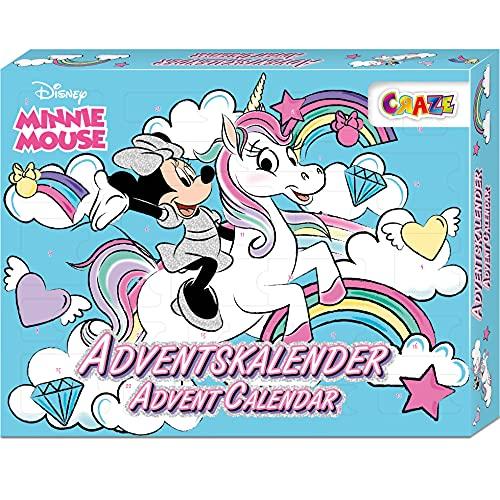 CRAZE 24669 Premium Advent Calendario dell'Avvento 2020 Minnie Mouse Sorprese e Giochi con la Divertente Topolina, Colore Colorful