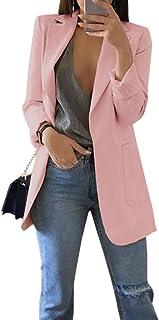 Mujer Blazer Traje De Chaqueta Ropa Trabajo Casual OL Oficina Negocio Solapa Manga Larga Bolsillo