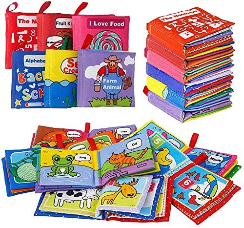 Felly Tygbok Baby | Mjuk bok för spädbarn småbarn, säker giftfri tygbok leksak för tidig utbildning intelligens utveckling bästa presenten till din unika bebis